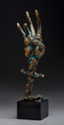 Hand-blessing - Bronze sculpture, 32cm, 2018