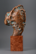 Woman portrait I, Bronze sculpture, 30cm, 2018