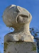 Portrait of a woman - stone sculpture, 49cm, 1996