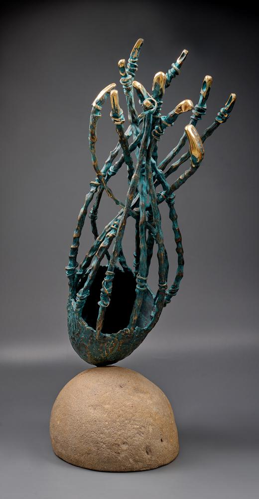 Blue planet, Bronze sculpture, 75 cm, 3900E